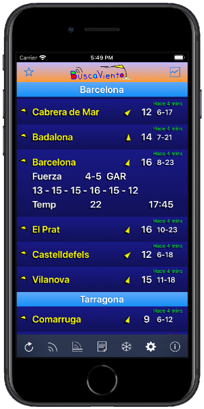 La app de BuscaViento - datos del viento en tiempo real desde tus spots preferidos